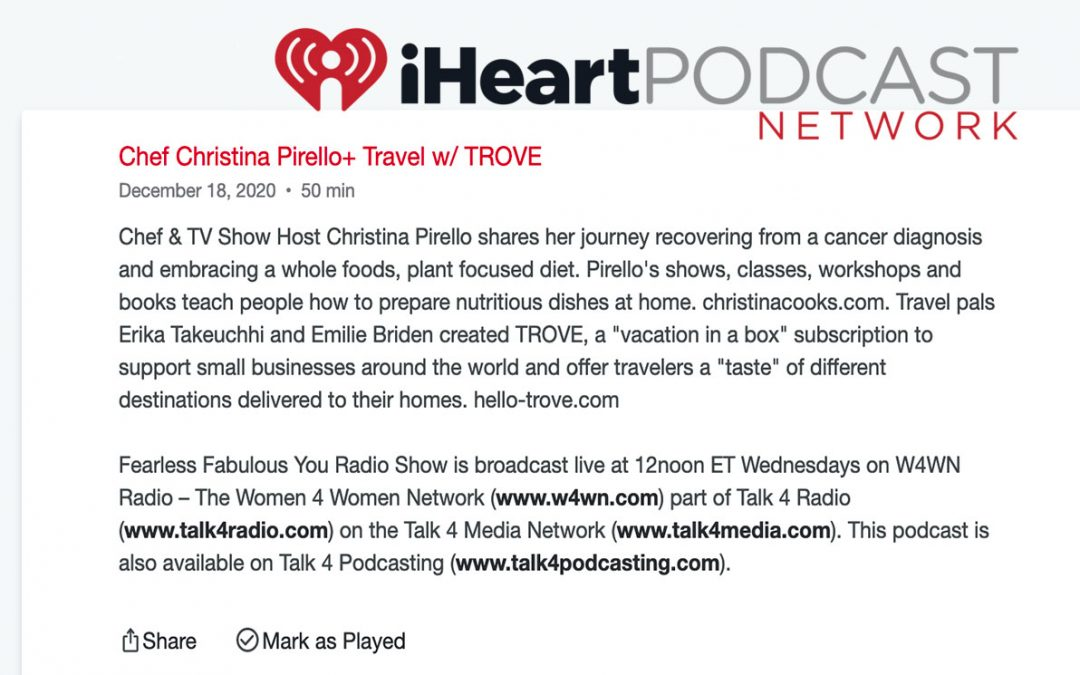 Chef Christina Pirello+ Travel w/ TROVEV