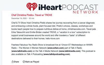 Chef Christina Pirello+ Travel w/ TROVEV
